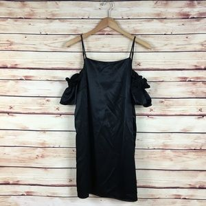 Urban Outfitters Cold Shoulder Dress Black Medium